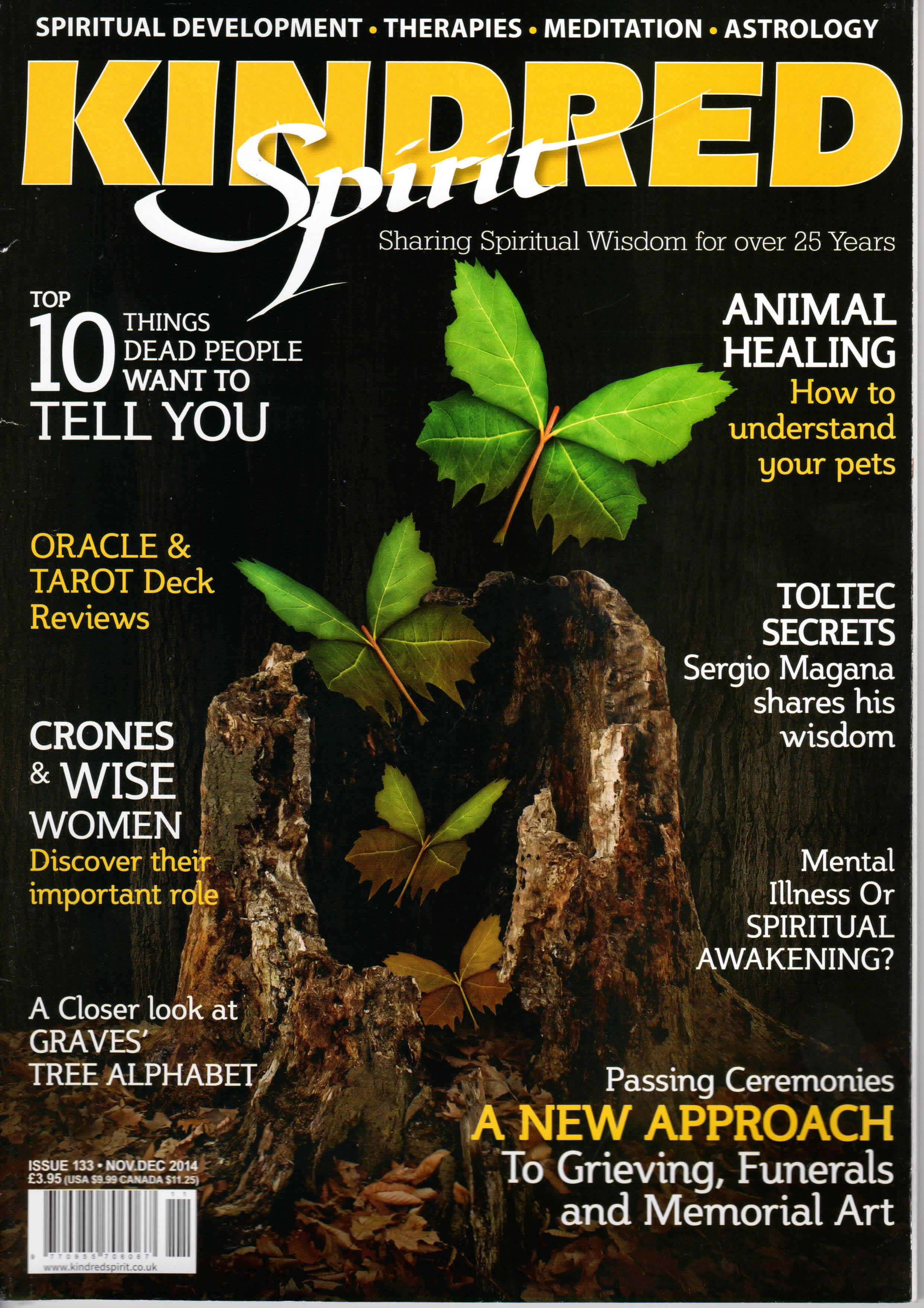 Article in Kindred Spirit magazine about working with Michal Levin
